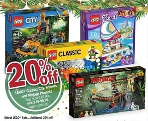 LEGO Classic, City, Friends & Ninjago Playsets