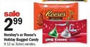 Hersheys or Reese's Holiday Bagged Candy