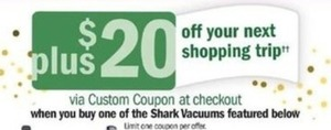 Featured Shark Vacuums + $20 Custom Coupon at Checkout