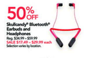 Skullcandy Bluetooth Earbuds and Headphones