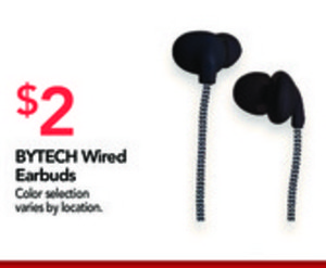 BYTECH Wired Earbuds