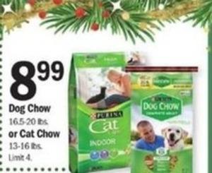 Select Dog/Cat Food (16.5-20 lbs.)