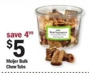Meijer Bulk Chew Tubs
