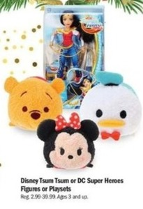 Disney Tsum Tsum Or Dc Super Heroes Figures Or Playsets