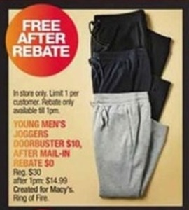 Young Men's Joggers After Rebate