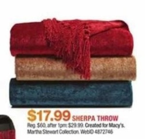 Martha Stewart's Sherpa Throw