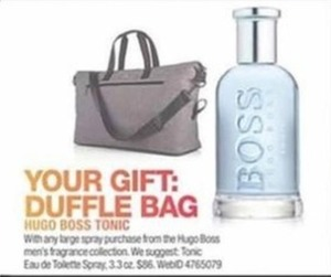 Duffle Bag w/any Hugo Boss Large Spray Purchase