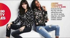 Junior's Embellished Jackets and Jeans