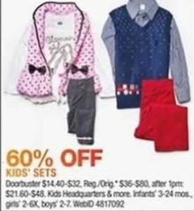 Select Kids' Outfit Sets