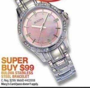 Bulova Stainless Steel Bracelet