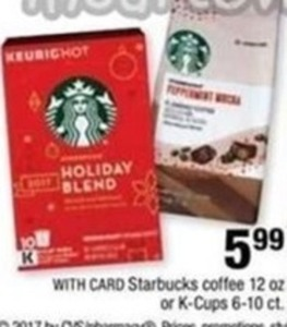 Holiday Blend Starbucks Coffee w/ Card