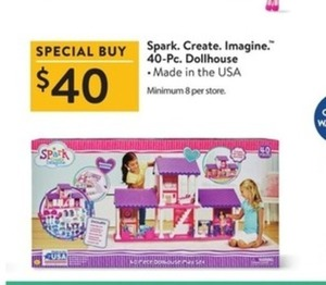 Spark Create Imagine 40-Piece Dollhouse
