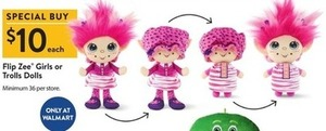 Flip Zee Girls or Trolls Dolls