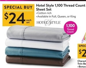 Hotel Style 1,100 TC Sheet Set