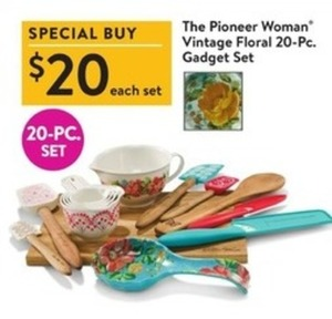 The Pioneer Woman Vintage Floral 20-pc. Gadget Set