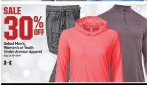 Select Mens, Women's or Youth Under Armour Apparel