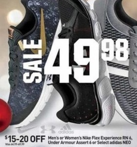 Nike Flex RN 6 | Under Armour Assert 6 | Or Select Adidas Neo Shoes