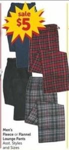 Men's Fleece or Flannel Lounge Pants