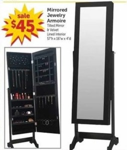 Mirrored Jewelry Armoire 450 at Freds on Black Friday