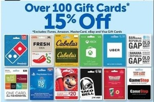 Over 100 Gift Cards
