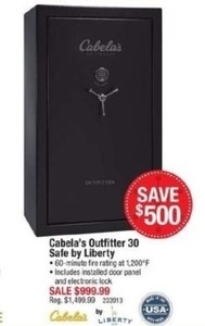 Cabela's Outfitter 30 Safe By Liberty