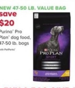 Purina Pro Plan Dog Food 47-50lb. Bags