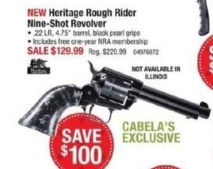Heritage Rough Rider Nine-Shot Revolver
