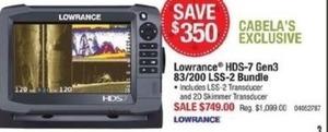Lowrance HDS-7 Gen3 83/200 LSS-2 Bundle