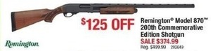 Remington Model 870 200th Commemorative Edition Shotgun