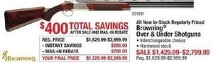 Browning Over & Under Shotguns After Rebate