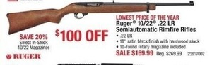 Ruger 10/22 .22LR Semiautomatic Rimfire Rifles