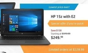 HP 15z Laptop with E2