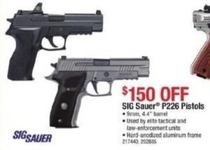 Sig Sauer P226 9MM Pistols