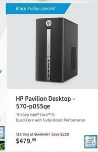 HP Pavlion 570-p055qe Desktop