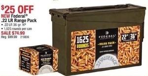 Federal .22 LR Range Pack