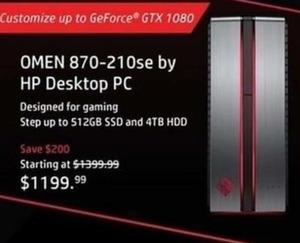 Omen 870-210se by HP Desktop PC