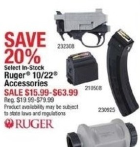 Select In-Stock Ruger 10/22 Accessories