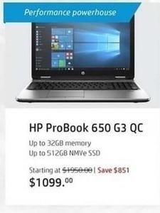 HP ProBook 650 G3 QC Laptop