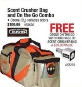 Scent Crusher Bag And On The Go Combo