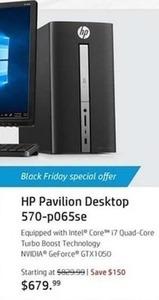 HP Pavilion 570-p065se Desktop