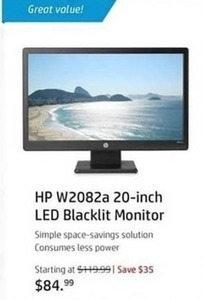 HP W2082a 20-inch LED Blacklit Monitor