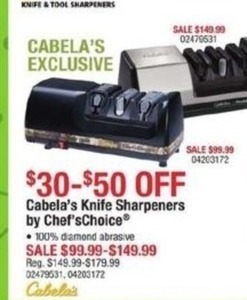 Cabala's Knife Sharpeners by Chef's Choice