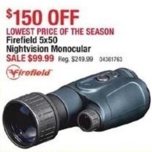 Firefield 5x50 Nightvision Monocular