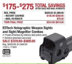 EOTech Holographic Weapon Sights & Sight Magnifier Combos After Rebate
