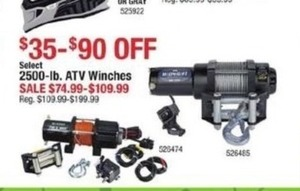 2599lb ATV Winches