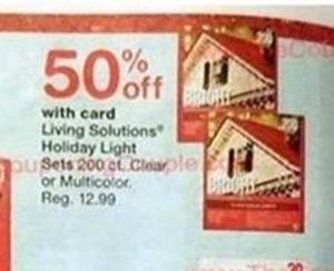 Living Solutions Holiday Light Sets with Walgreens Card