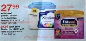 Similac, Enfamil, or Gerber Infant Formula w/ Card