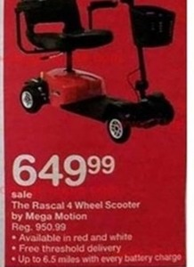 The Rascal 4 Wheel Scooter by Mega Motion