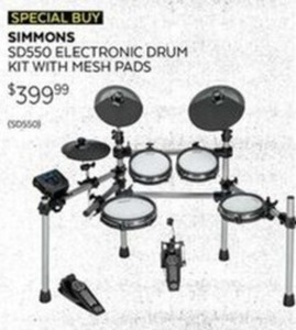 Simmons Electronic Drum Kit w/ Mesh Pads