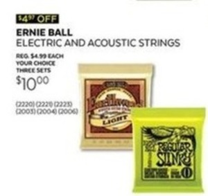 Ernie Ball Electric and Acoustic 3-Pack String Set